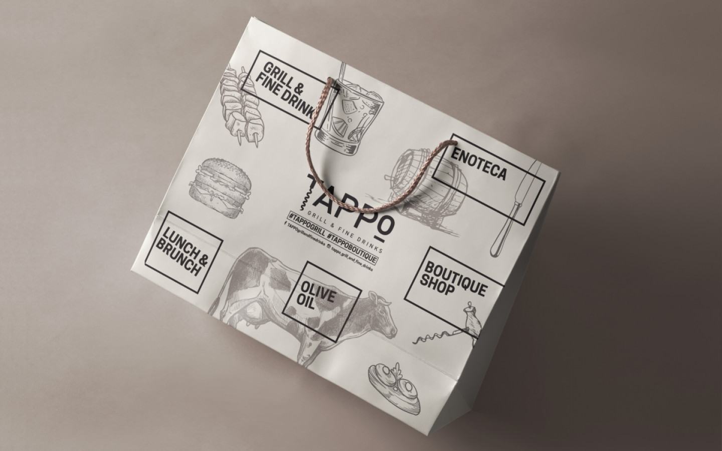 VISUAL IDENTITY - TAPPO GRILL & FINE DRINKS